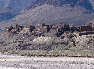 Beatrice Afghanistan destroyed village